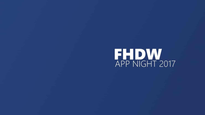 FHDWAppNight2017 Titelbild