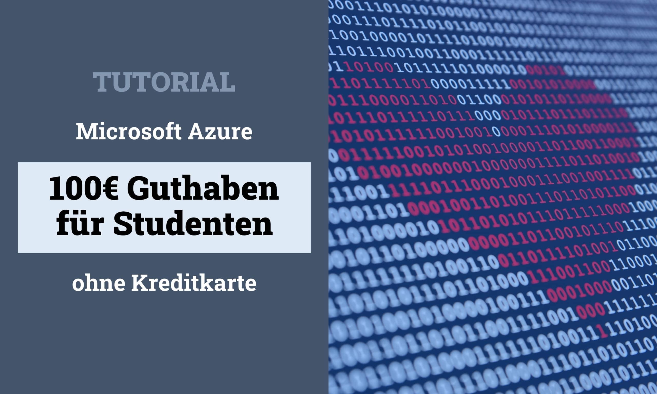 Microsoft Azure for Students Titelbild scaled