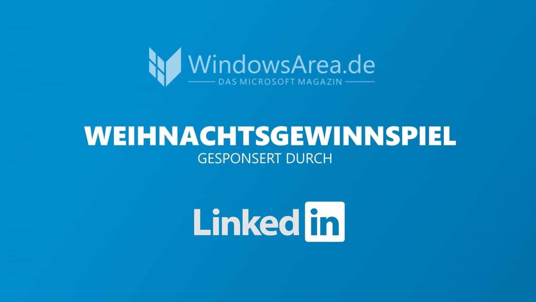 LinkedIn Weihnachtsgewinnspiel WindowsArea
