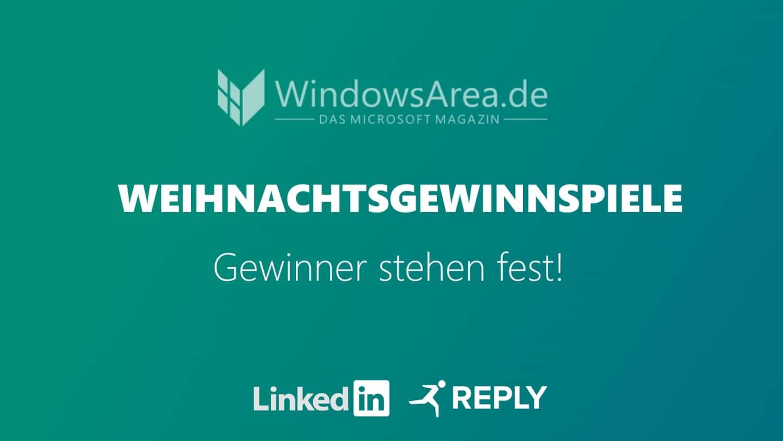 LinkedIn REPLY Weihnachtsgewinnspiel WindowsArea