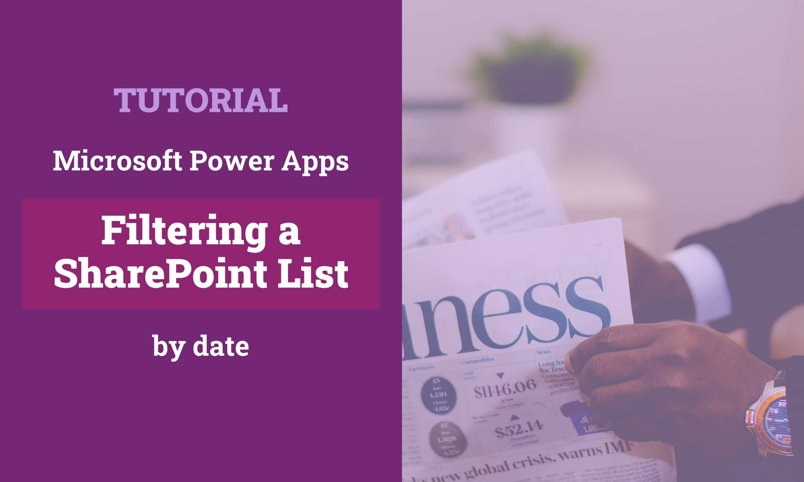 PowerApps Filter SharePoint List By Date Titelbild scaled