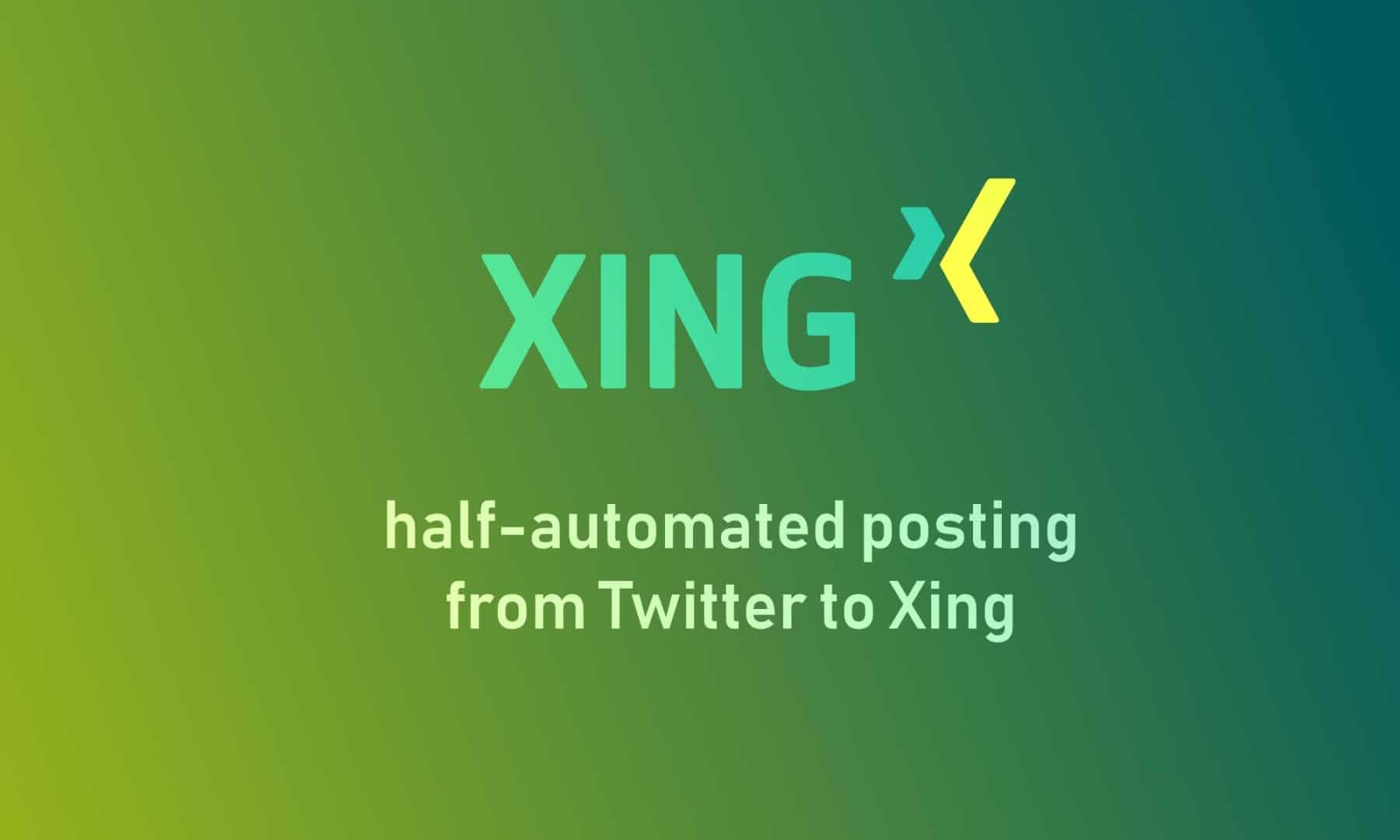 Half Automated Sharing Xing Titelbild