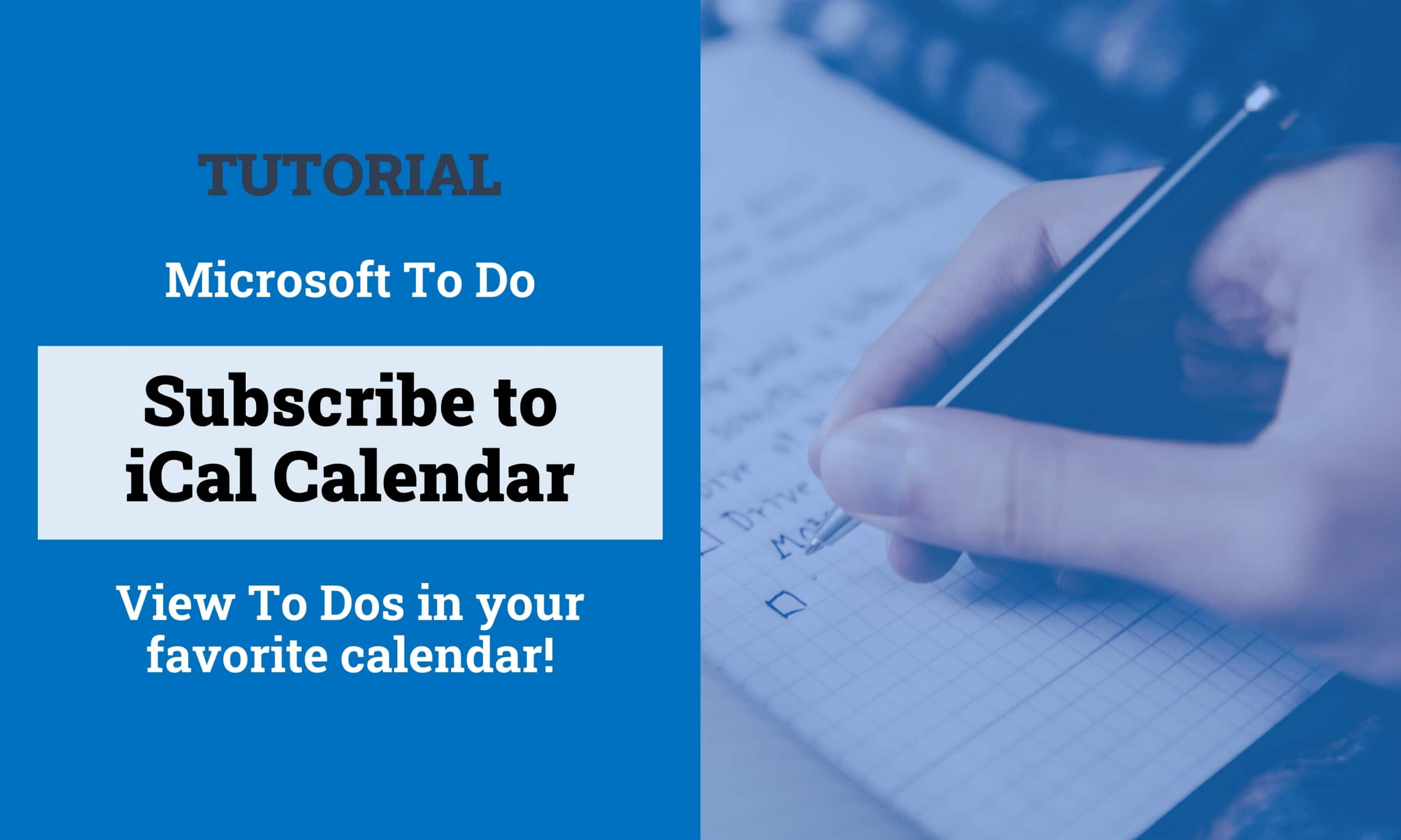 Subscribe Microsoft ToDo Outlook Tasks ICal ICS Titelbild scaled