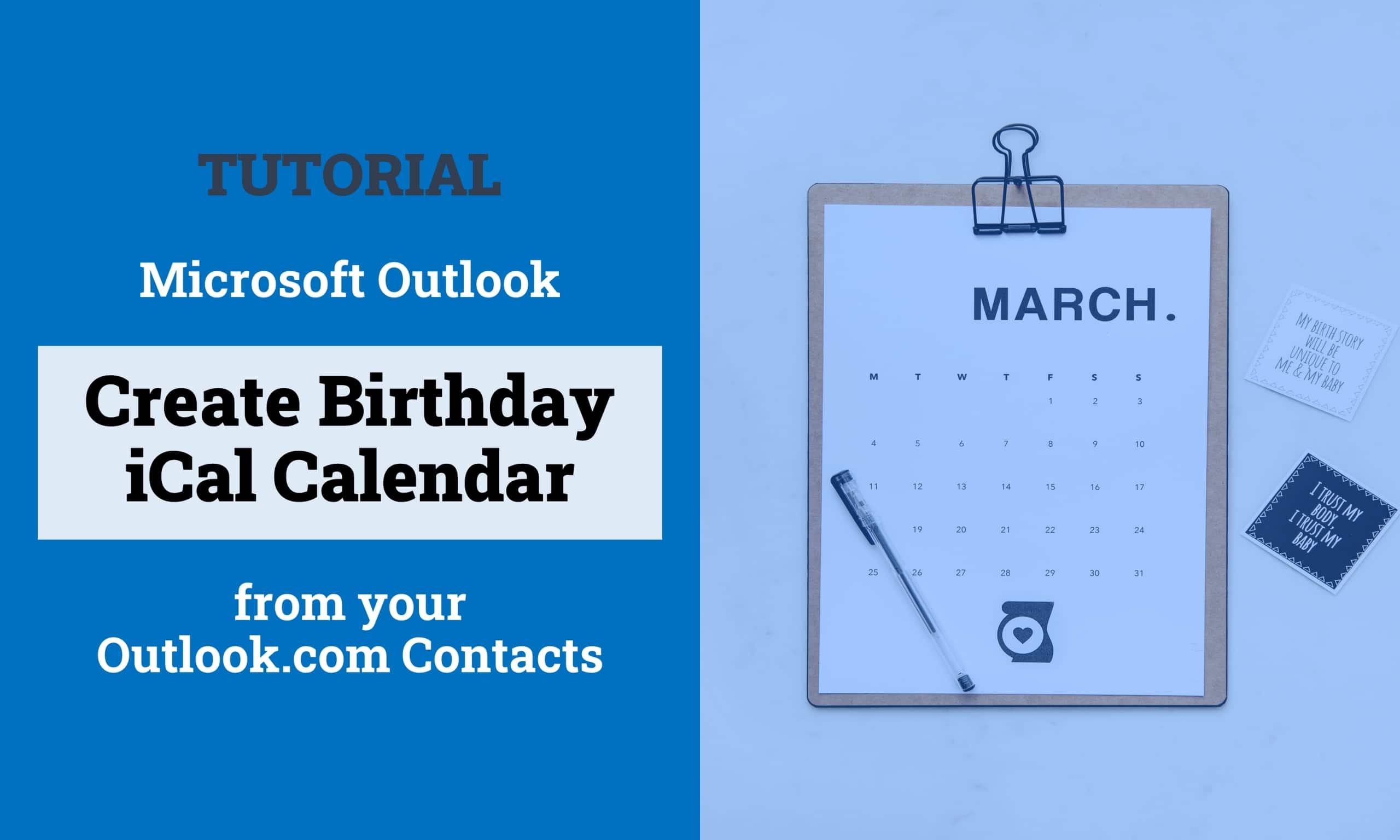 Create Outlook Birthday Calendar from Contacts Titelbild 1 scaled