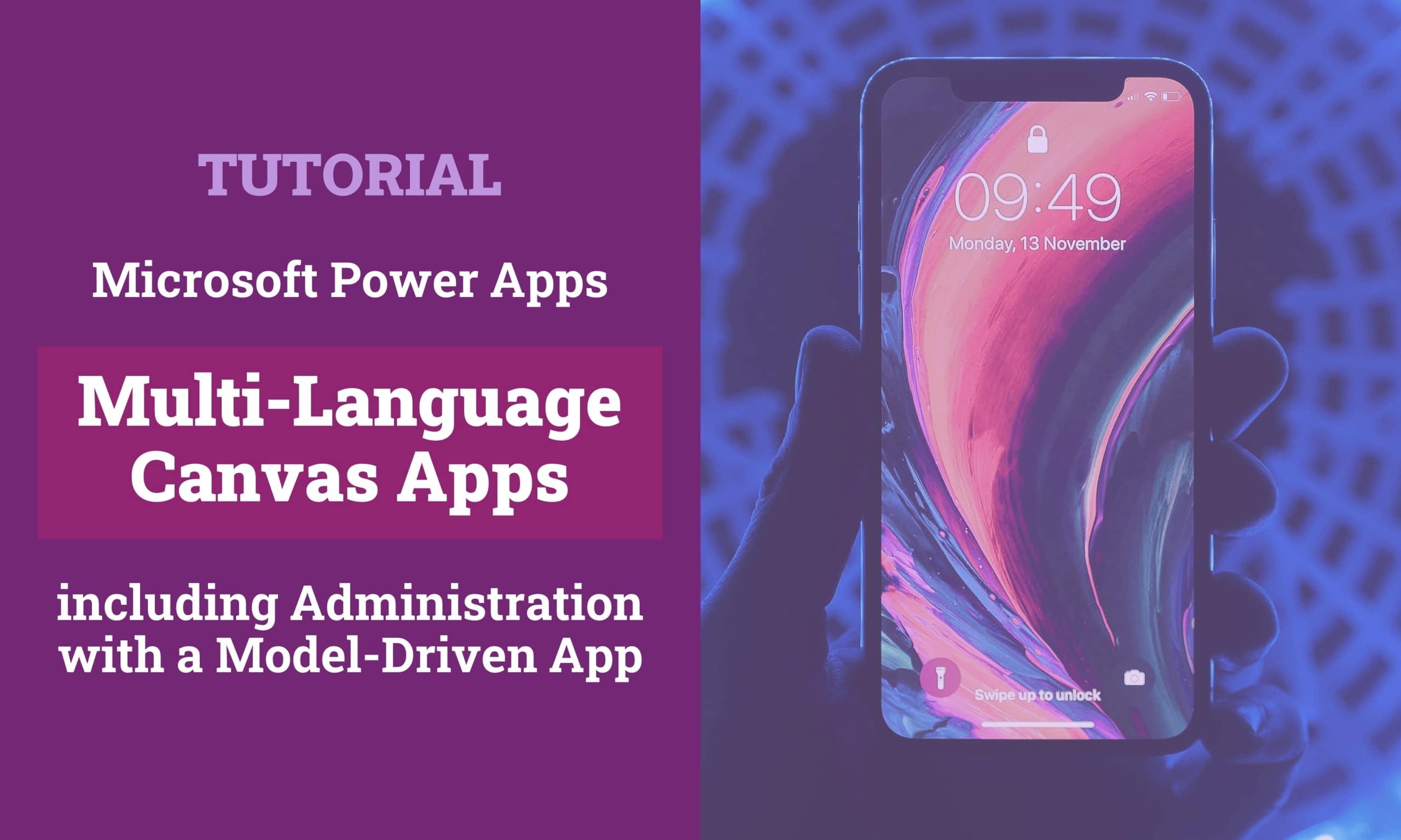Microsoft Power Apps Canvas Apps Multi Language Titelbild scaled